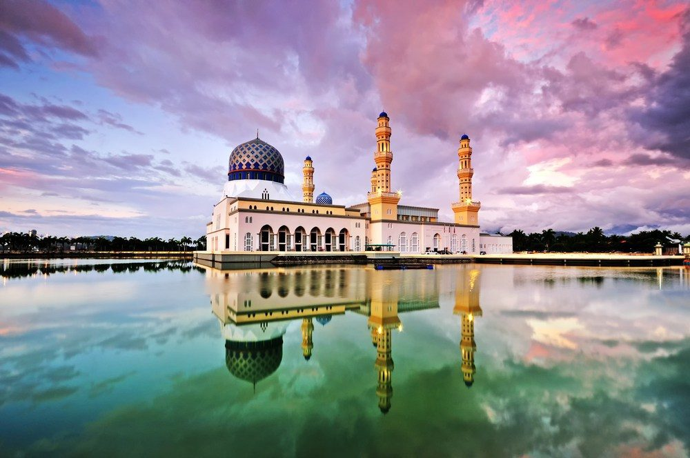Pink Mosque in journey to sabah