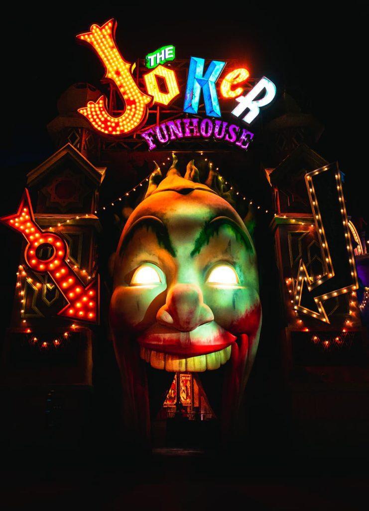 the joker horror house Warner Bros Abu Dhabi