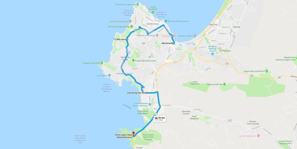 Highway journeys California Map