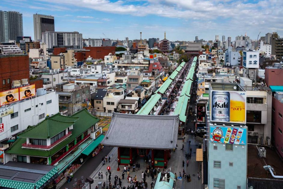 Sensoji Temple View – Tourism Info Constructing