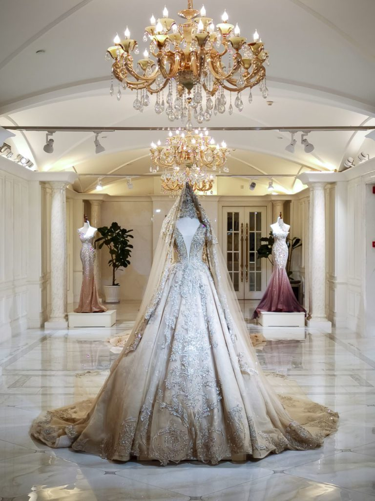 Marriage ceremony gown capital of the world