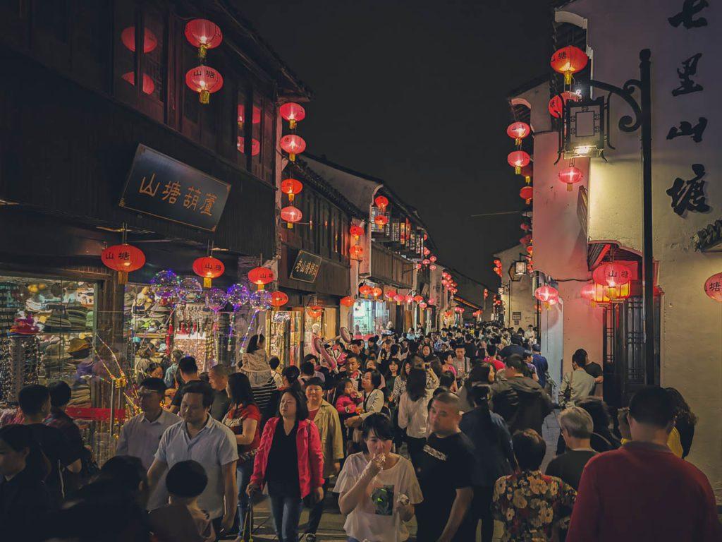 Things-to-do-in-Suzhou-China-Shantang-Street-night