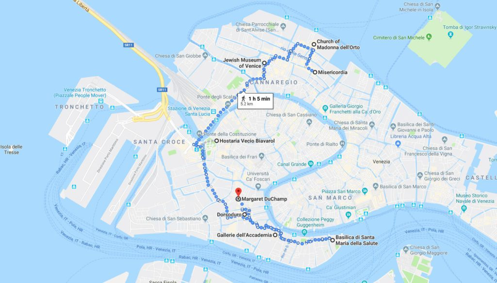 Venice Itinerary Map Day 2