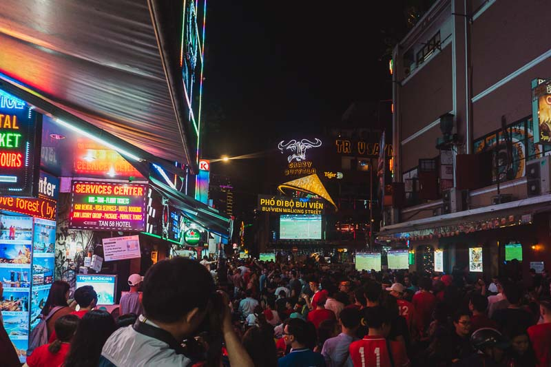 Stroll down Bui Vien Avenue
