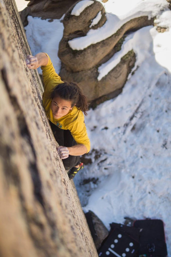 Bouldering Attracts Nervy Climbers