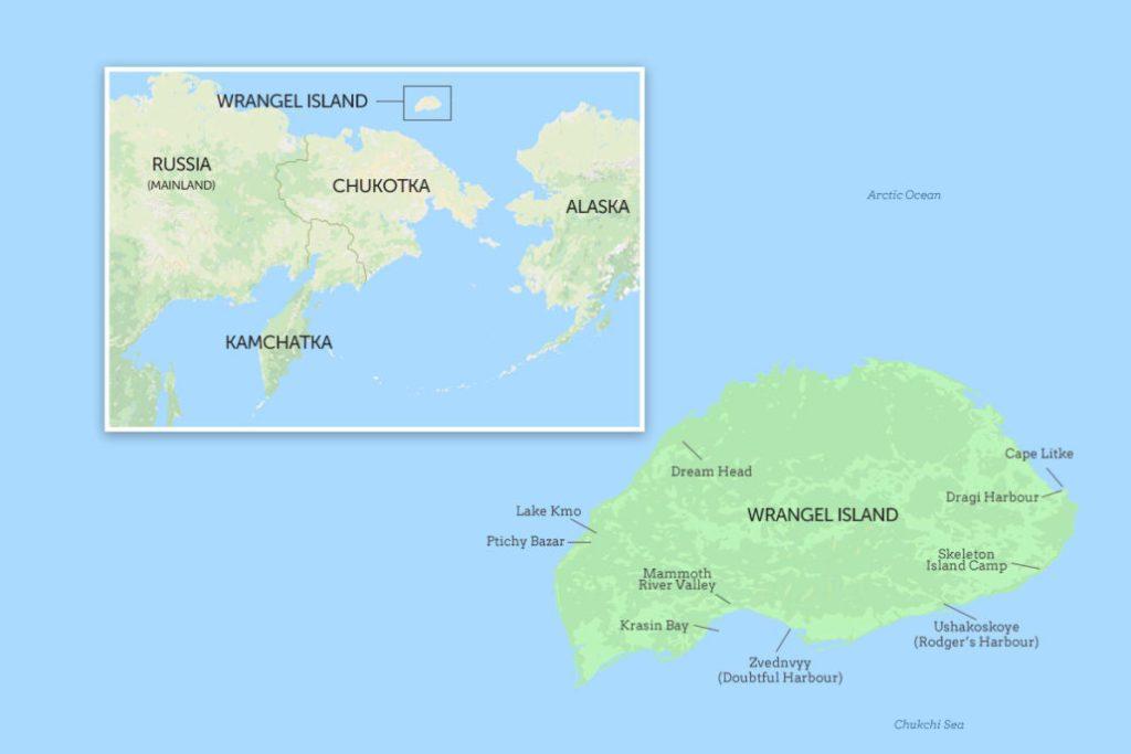 Arctic Robinson Crusoe map