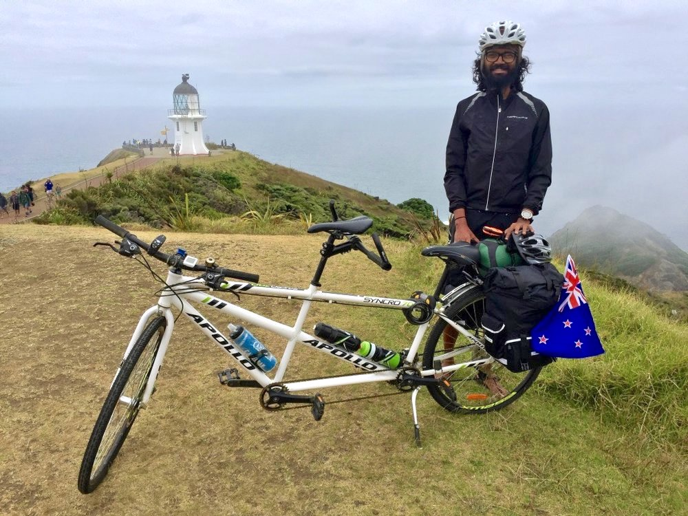 Kumar at Cape Reinga