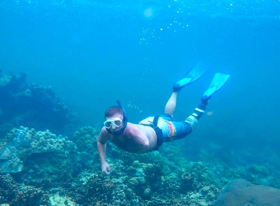 Reynolds has loved diving all around the world