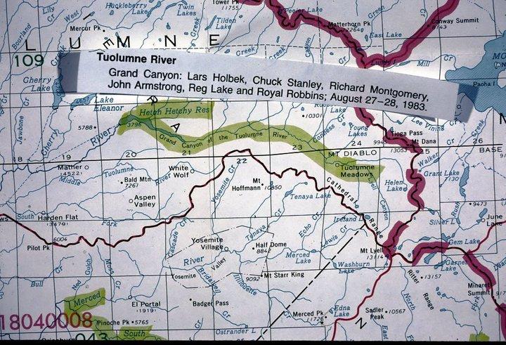 Kayaker Lars Holbek Pioneered Sierra Rivers map