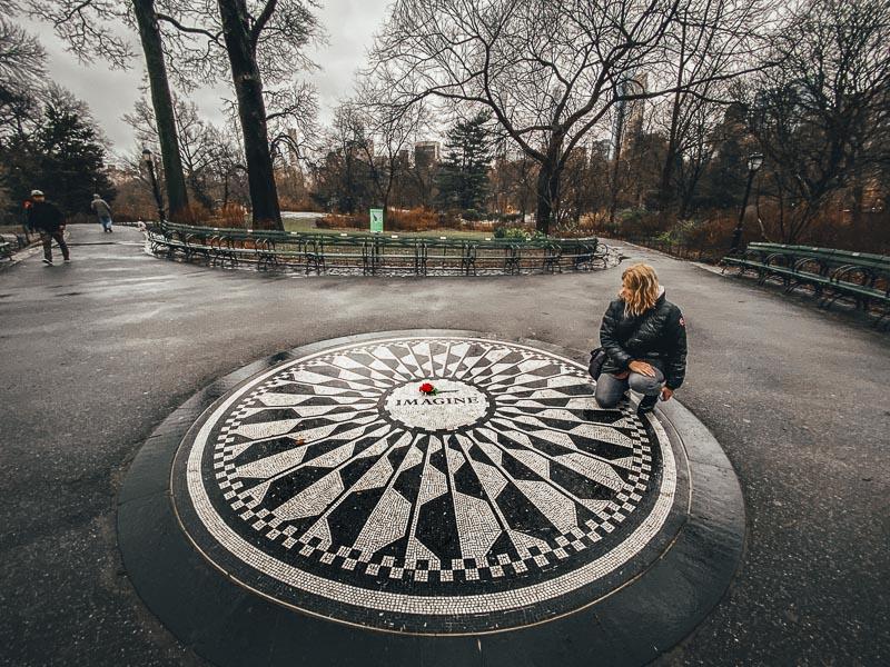 Pay Respect to John Lennon in Central Park