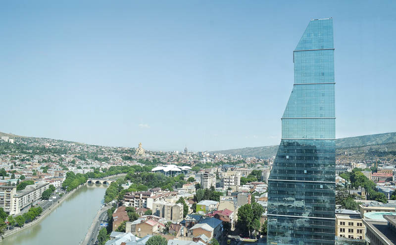 modern skyline of tbilisi georgia