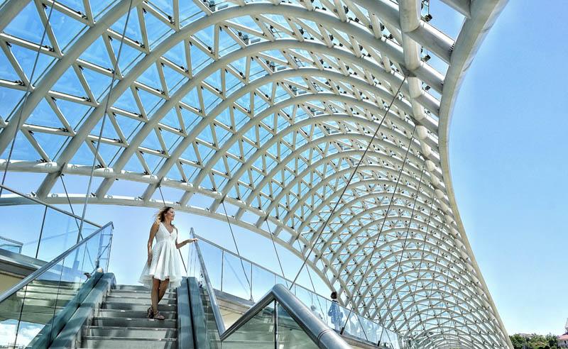 peace bridgert | modern architecture tblisi