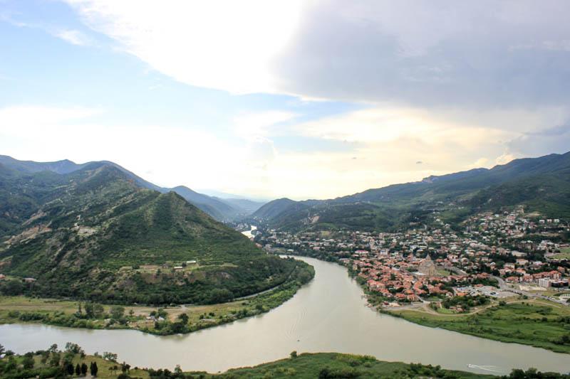 the capital city of Georgia | tbilisi and the Kura River