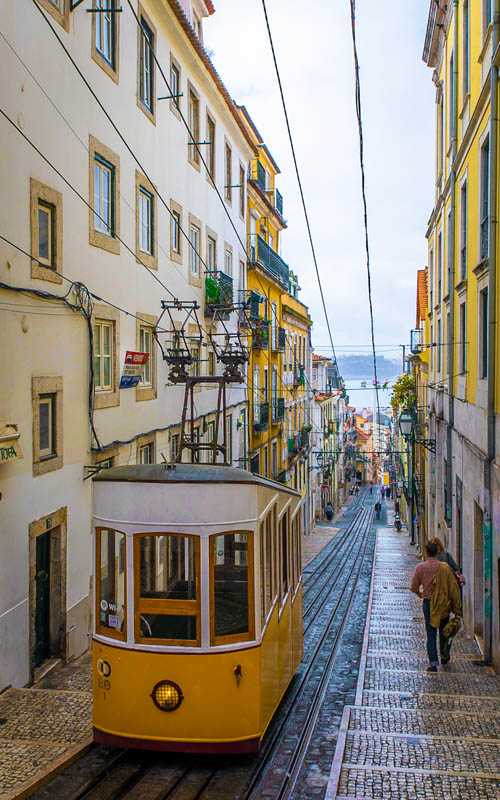 things to do in lisbon | ascensor da bica funicular