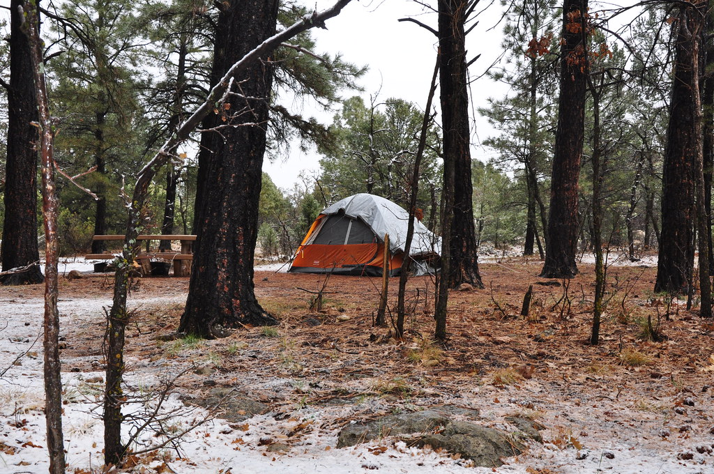 Winter Camping in Mather Campground