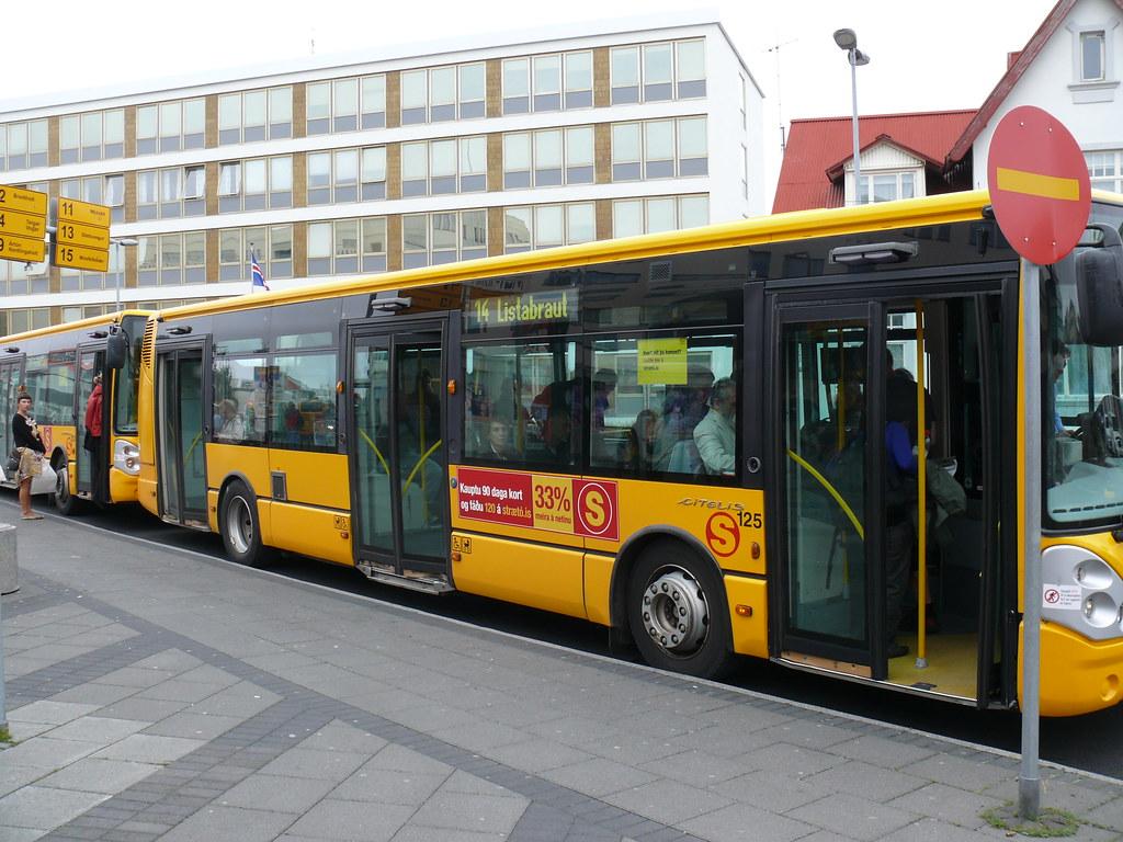 Bus in Reykjavík Iceland