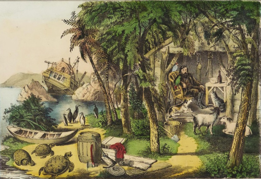Robinson crusoe and his pets