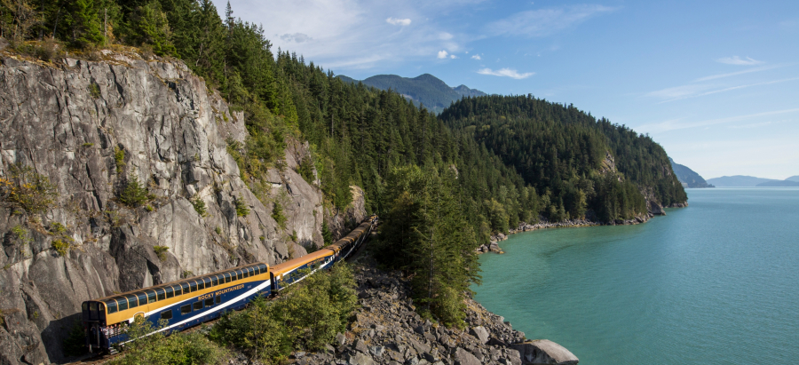 The Vancouver - Whistler - Quesnel - Jasper route