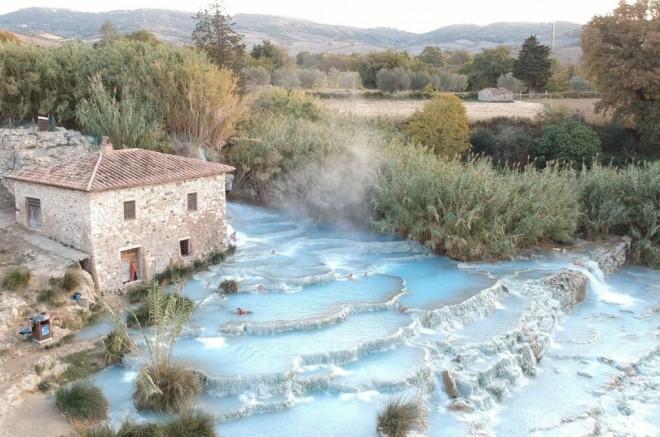 hot spring Cascate del Mulino
