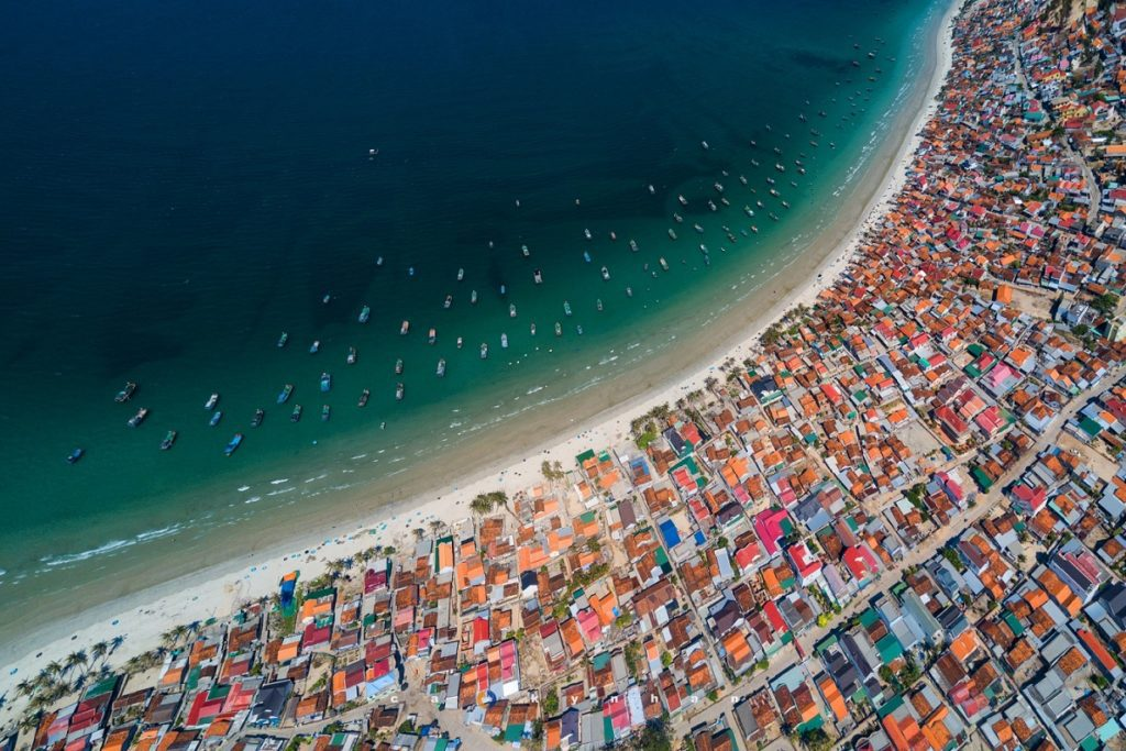 Doc Let fishing village, Khanh Hoa from above