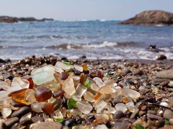 Glass beach, California USA